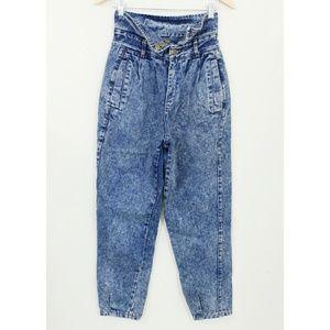 Vintage High Waist Acid Washed Jeans